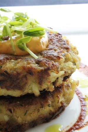 Scallop Mousse Crab Cakes